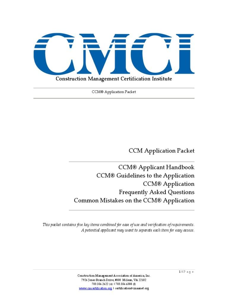 Ccm Ccm 174 Cmaa Construction Management Professional Certification