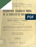 Descripcion Geografico Moral de La Diocesis de Goathemala Tomo I (1)