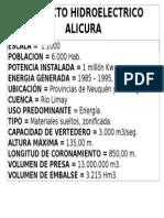 PROYECTO HIDROELECTRICO ALICURA