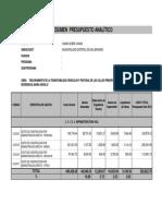Presupuesto Analitico y Gastos Generales