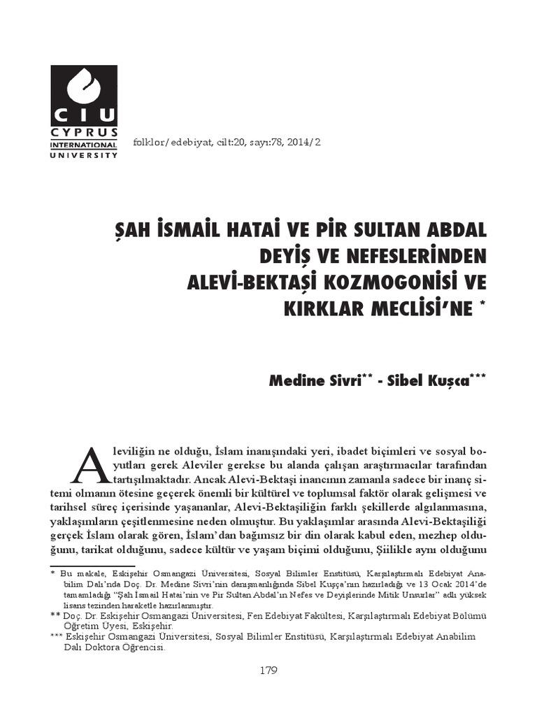 Pir Sultan Abdal hakkındaki efsaneler