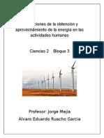 Implicaciones de La Obtención y Aprovechamiento de La Energía