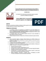 ANUIES-CONVOCATORIA 2015
