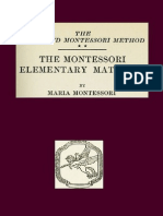 .Montessori Elementary Materials the Advanced Montessori Method