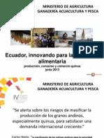 Soberanía alimentaria quinua Ecuador