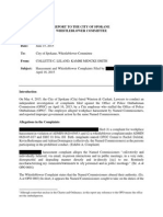 City of Spokane Ombudsman Investigation