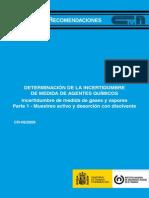 Determinación de La Incertidumbre de Medida de Agentes Químicos. Incertidumbre de Medida