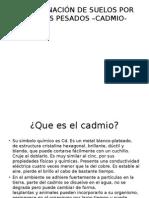 Contaminación de Cadmio en Suelo