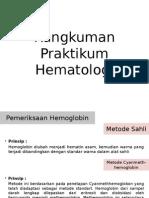 Rangkuman Praktikum Hematologi