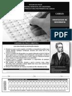 INST MACHADODE ASSIS 168 Prova de Professor de Geografia Canavieira