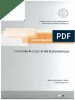 INFORME DE INVESTIGACION ESPECIAL 3-14 INSTITUTO NACIONAL DE ESTADISTICAS SOBRE EVENTUALES IRREGULARIDADES EN EL PROYECTO CENSO 2012 - JUNIO 2015.PDF