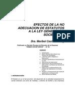 Adecuacion - Consecuencias de No Adecuacion a La Ley General de Sociedades