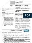August 2009 Newsletter for Nottingham Chinese Welfare Association (English Version)
