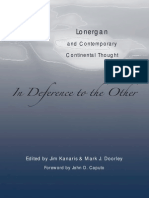Jim Kanaris, Mark J. Doorley, John D. Caputo in Deference to the Other_ Lonergan and Contemporary Continental Thought