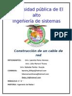 Construccion de Un Cable de Red