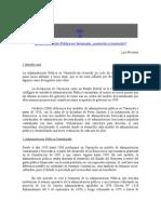 Evolucion de La Administracion en Venezuela