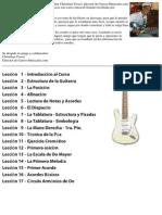 Curso de Guitarra Gratuito