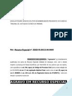 agravo_nos_proprios_autos_penal_criminal_reexame_provas_sumula_07_stj_modelo_501_PN172.doc