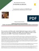 Série de Entrevistas Sobre Como INVESTIR NA BOLSA - 6 - Entrevista Com André Machado _ InfoMoney