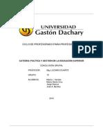 POLITICA y GESTION DE LA EDUCACION SUPERIOR - PARA PRESENTACION GRUPO 10.odt