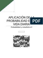 Aplicación de La Probabilidad en La Vida Diaria