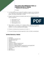 Guia Metodologica Para La Elaboracion de La Tesina