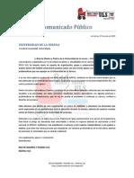 Comunicado MAPAU ULS
