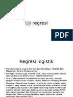 Uji Regresi