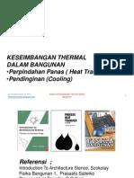 Kuliah 6 Keseimbangan Thermal Dalam Bangunan