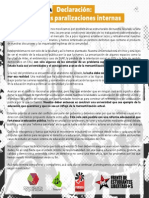 """Declaración 17/06/2015 """"Sobre las Movilizaciones Internas"""""""