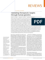 Validating Theraputic Target Through Human Genetics