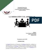 La Mediacion y El Arbitraje
