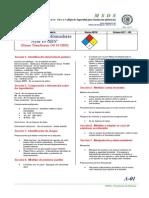 Aceite Para Transformadores MSDS