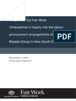 Fair Work Ombudsman's report into the Baiada Group