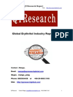 Global Erythritol Industry Report 2015