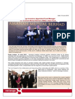 KIB Appointed by Amanah Mutual Berhad