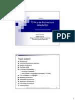 Lecture1 IS323 EnterpriseArchitecture(EAConcepts)