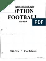 1996 Ga Southern Offense