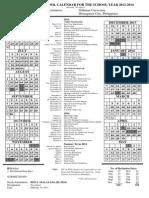 Collegiate Calendar 2013-2014 REVISED