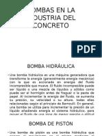 Bombas en La Industria Del Concreto