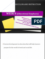 week 8  educational emphases (i)