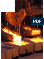 Anode Casting at Chiquicamata Copper Smelter in Chile