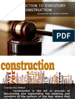 Introduction to Statutory Construction