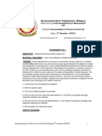 Instrumentation & Process Control Lab Manual