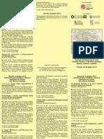 Pieghevole Convegno «Civiltà Romena e Identità Europea. Storia, Cultura, Società» Venezia, 23–25 Giugno 2015
