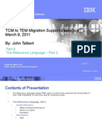 IBM TEM RELEVANCE