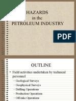 Hazards in the Petroleum Industry