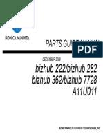 bizhub 362-282-222 parts guide manual