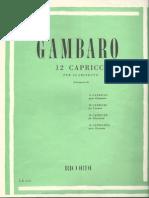 Gambaro - 12 Caprichos