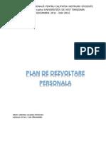 Plan de Dezvoltate Personala Model